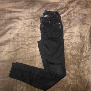 Long Black Skinny Jeans Silver Brand